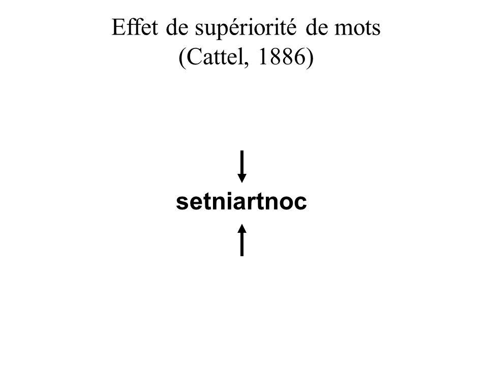 setniartnoc Effet de supériorité de mots (Cattel, 1886)