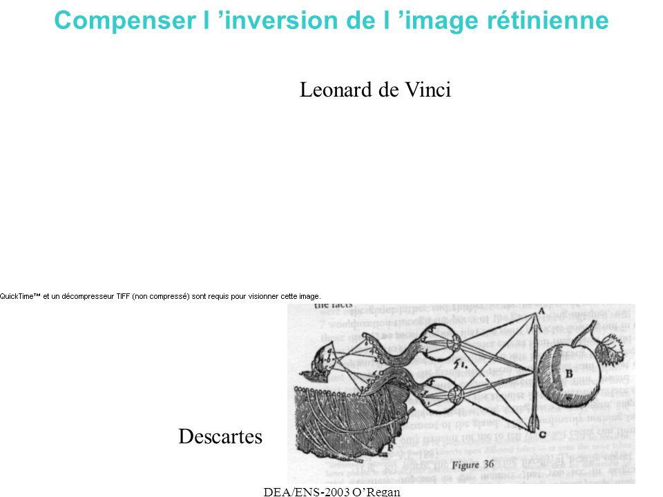DEA/ENS-2003 ORegan Compenser l inversion de l image rétinienne Leonard de Vinci Descartes
