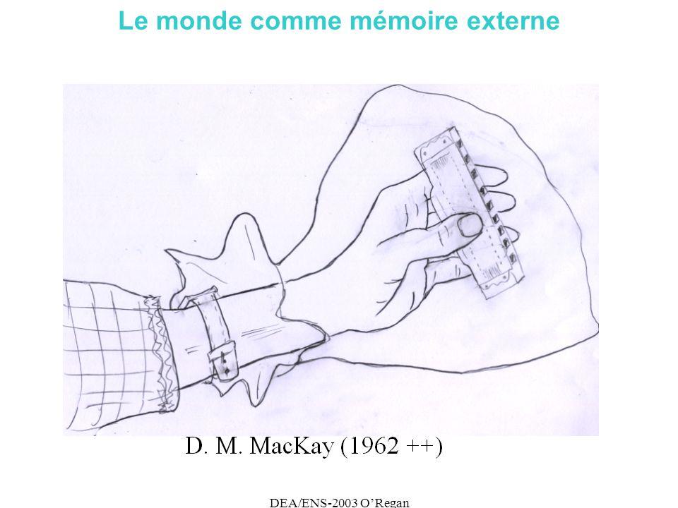 DEA/ENS-2003 ORegan Le monde comme mémoire externe