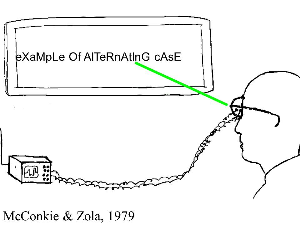 eXaMpLe Of AlTeRnAtInG cAsE McConkie & Zola, 1979