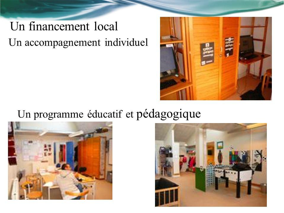 Un financement local Un programme éducatif et pédagogique Un accompagnement individuel