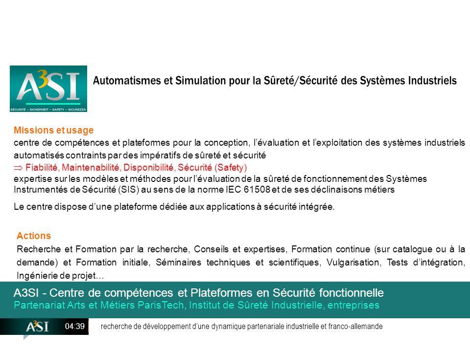 recherche de développement dune dynamique partenariale industrielle et franco-allemande 04:41 Actions Recherche et Formation par la recherche, Conseil