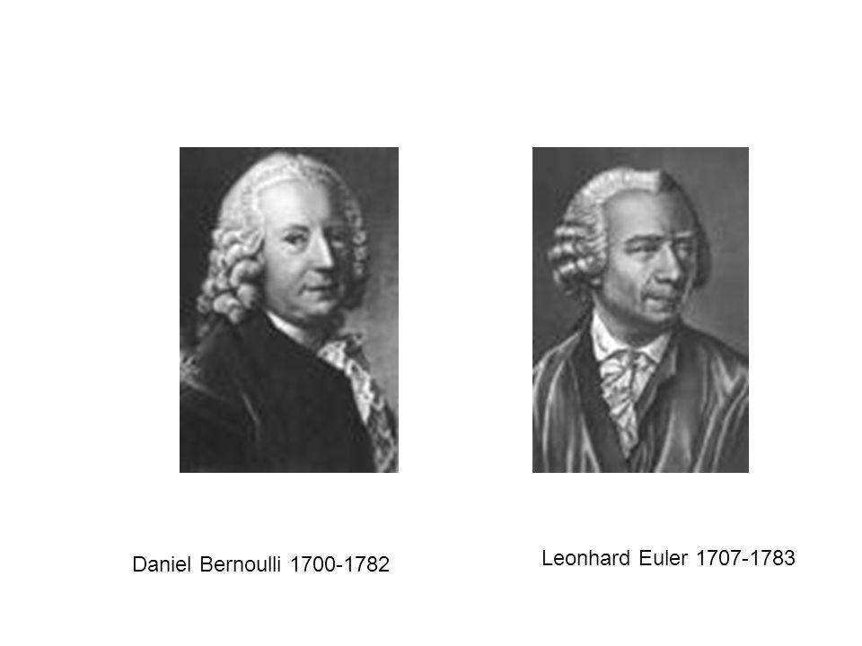 Daniel Bernoulli 1700-1782 Leonhard Euler 1707-1783