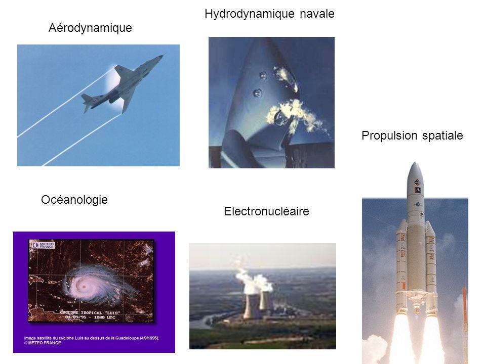 Aérodynamique Océanologie Hydrodynamique navale Propulsion spatiale Electronucléaire