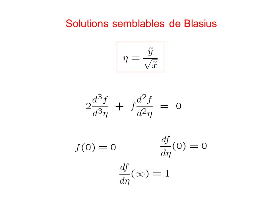 Solutions semblables de Blasius