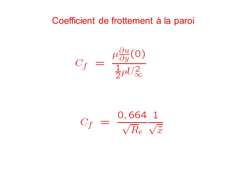 Coefficient de frottement à la paroi