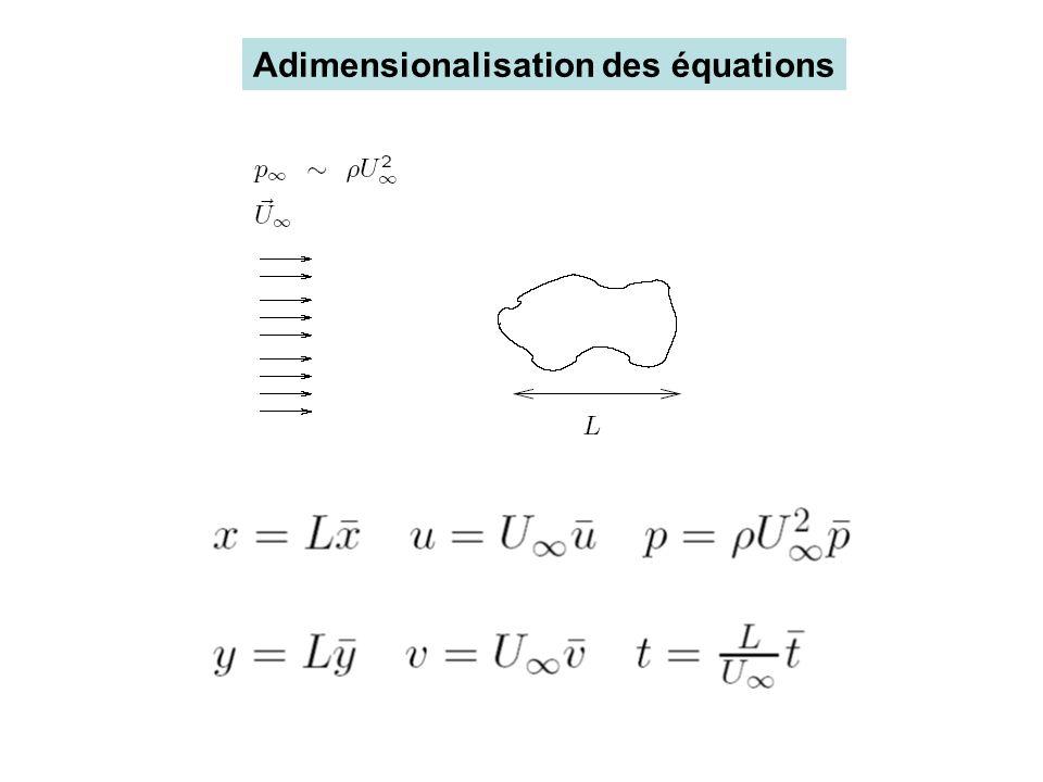 Adimensionalisation des équations