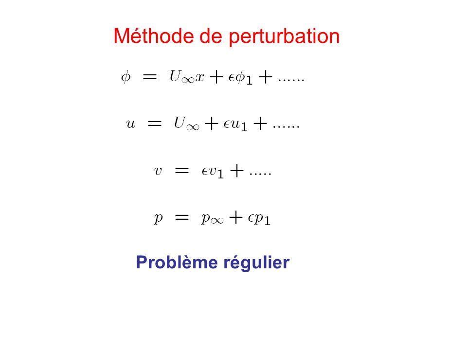 Méthode de perturbation Problème régulier