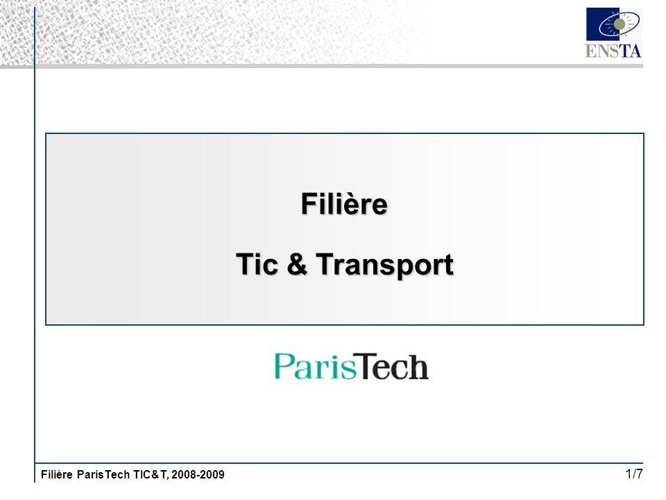Filière ParisTech TIC&T, 2008-2009 1/7 Filière Tic & Transport
