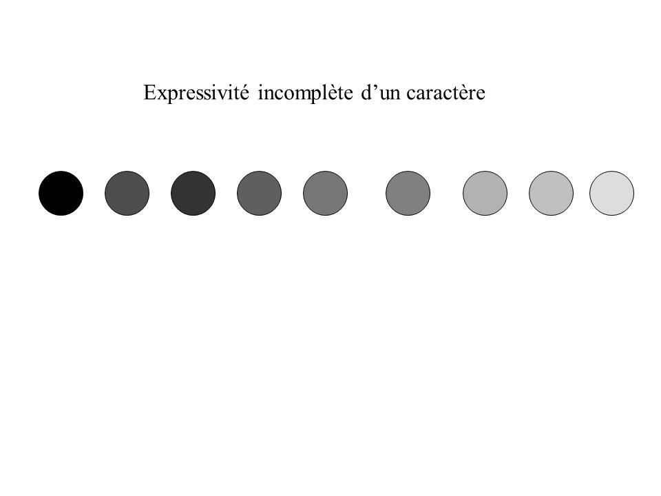 Expressivité incomplète dun caractère