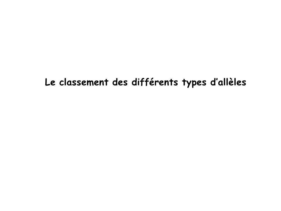 Le classement des différents types dallèles