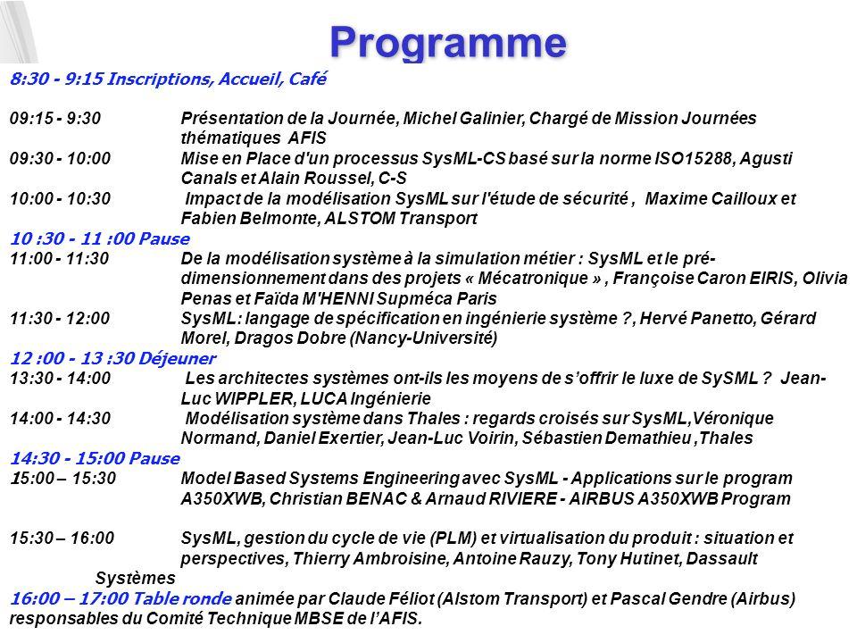 5 Programme 8:30 - 9:15 Inscriptions, Accueil, Café 09:15 - 9:30 Présentation de la Journée, Michel Galinier, Chargé de Mission Journées thématiques A