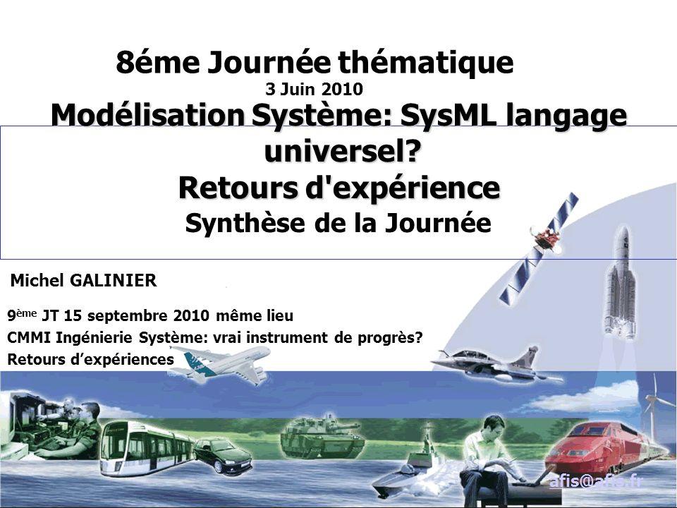 Modélisation Système: SysML langage universel.