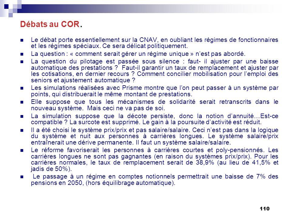 110 Débats au COR.