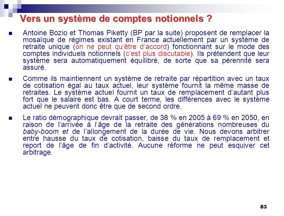 83 Vers un système de comptes notionnels .