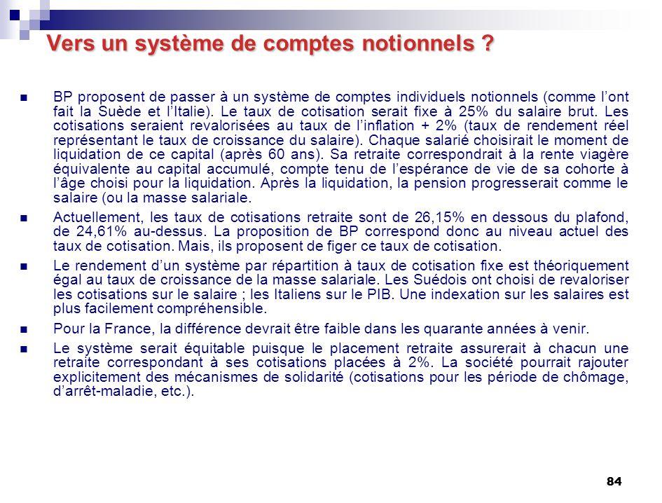 84 Vers un système de comptes notionnels .