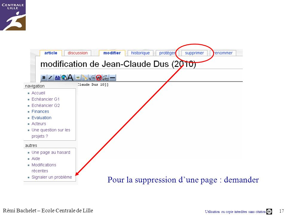 Utilisation ou copie interdites sans citation Rémi Bachelet – Ecole Centrale de Lille 18
