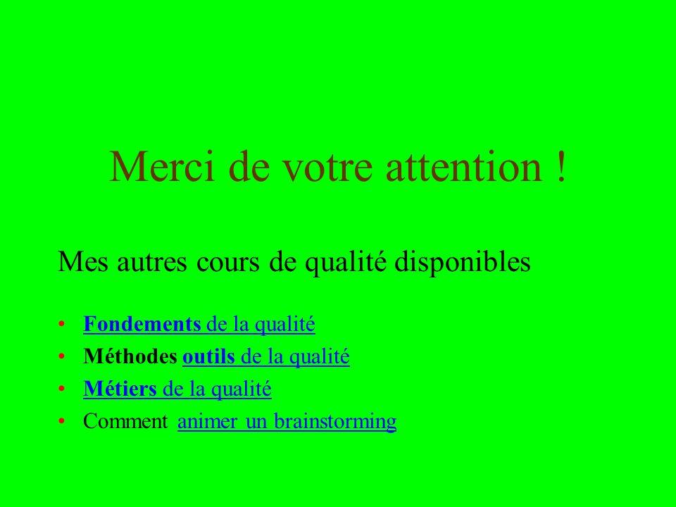 Utilisation ou copie interdites sans citation janvier 14 27 Valérie Capron et Rémi Bachelet Merci de votre attention ! Mes autres cours de qualité dis
