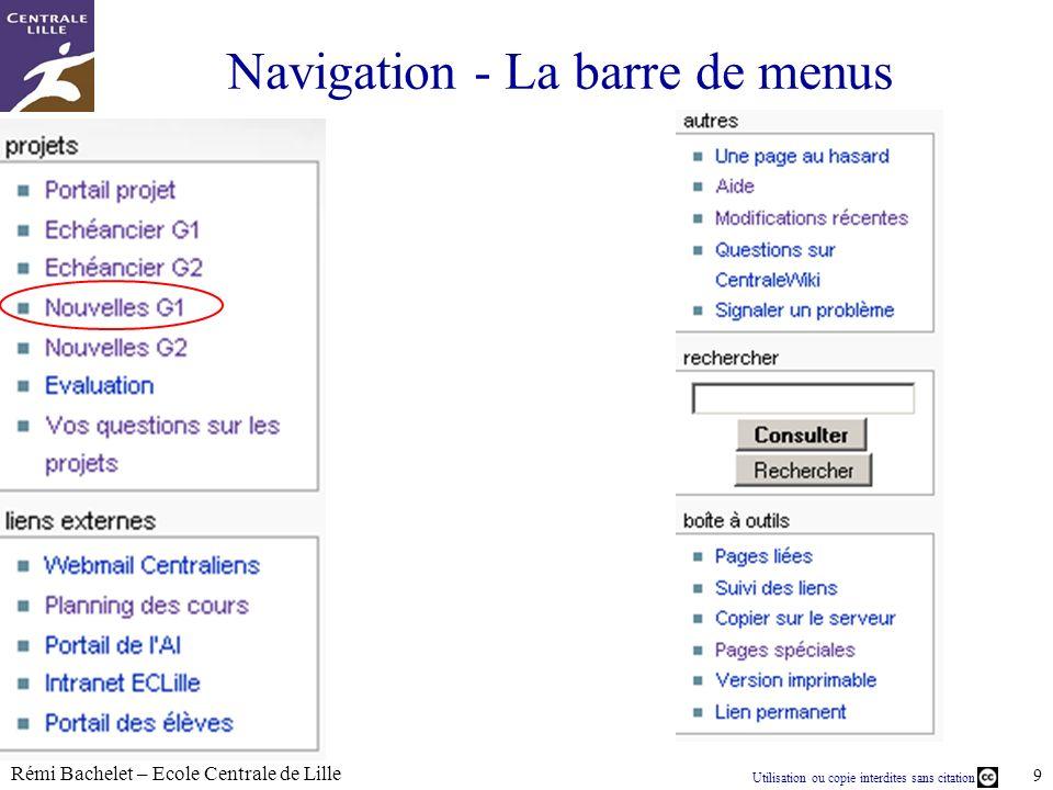 Utilisation ou copie interdites sans citation Rémi Bachelet – Ecole Centrale de Lille 20 janv.-14 CentraleWiki pour quoi faire .
