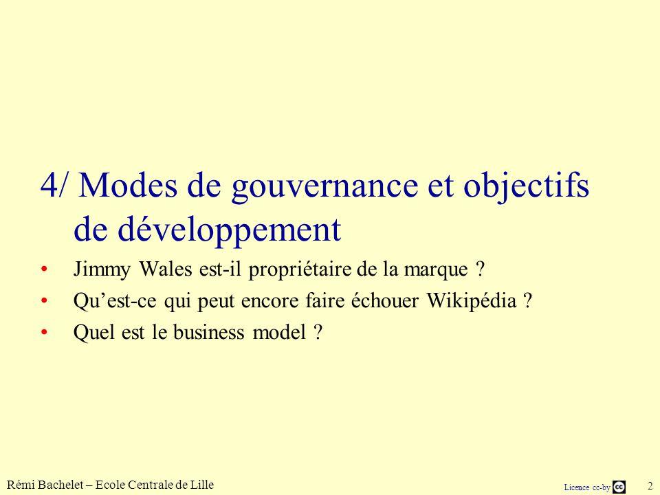 Rémi Bachelet – Ecole Centrale de Lille 3 Licence cc-by Gouvernance globale La Wikimedia Foundation (droit.