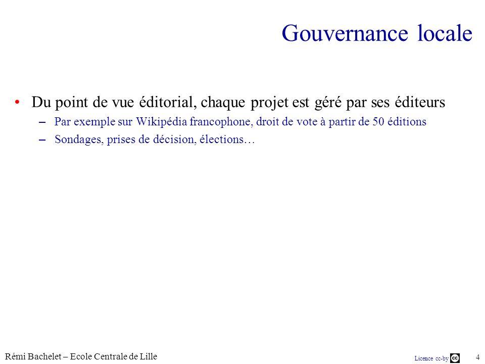 Rémi Bachelet – Ecole Centrale de Lille 5 Licence cc-by Dispositif opérationnel et technique MetaWiki – http://meta.wikimedia.org http://meta.wikimedia.org – Un dispositif multilingue...
