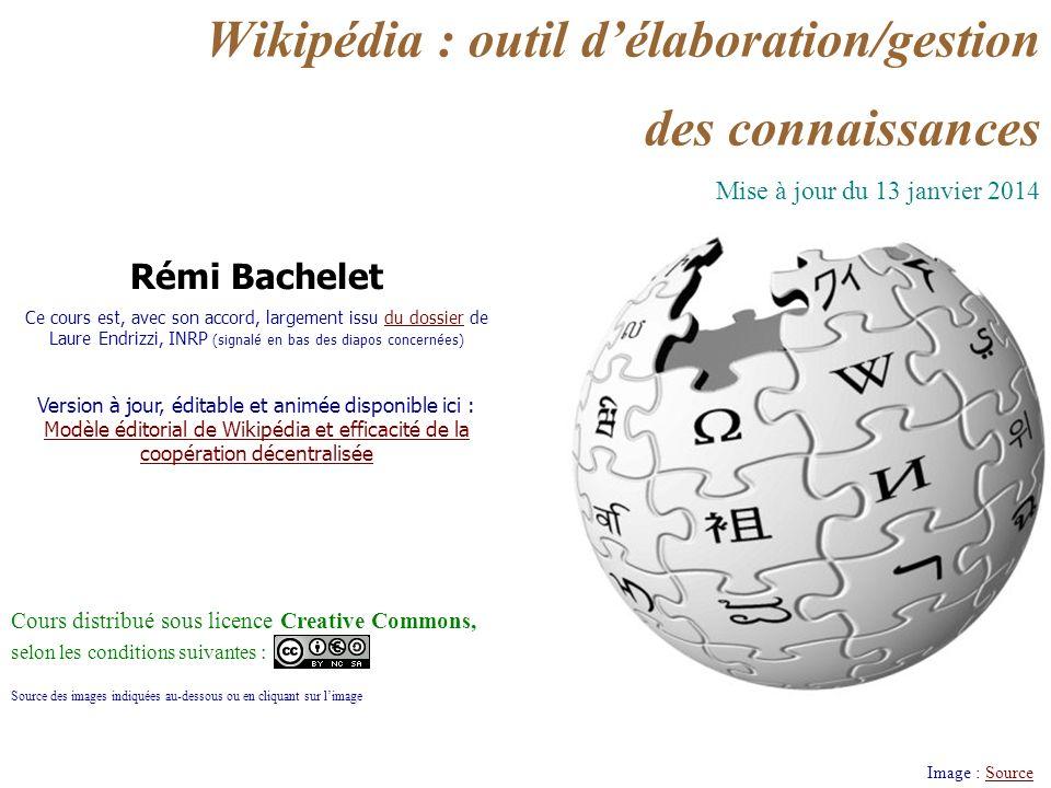 Licence cc-by Rémi Bachelet 2 7/ Modèle éditorial et efficacité de la coopération décentralisée Quels sont les fondements philosophiques de Wikipédia .