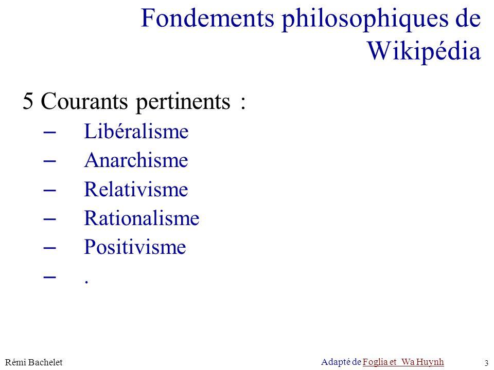 Licence cc-by Rémi Bachelet 4 Fondements philosophiques de Wikipédia Libéralisme Tout le monde doit profiter de lexpression, de la circulation et de la critique des opinions de tous.