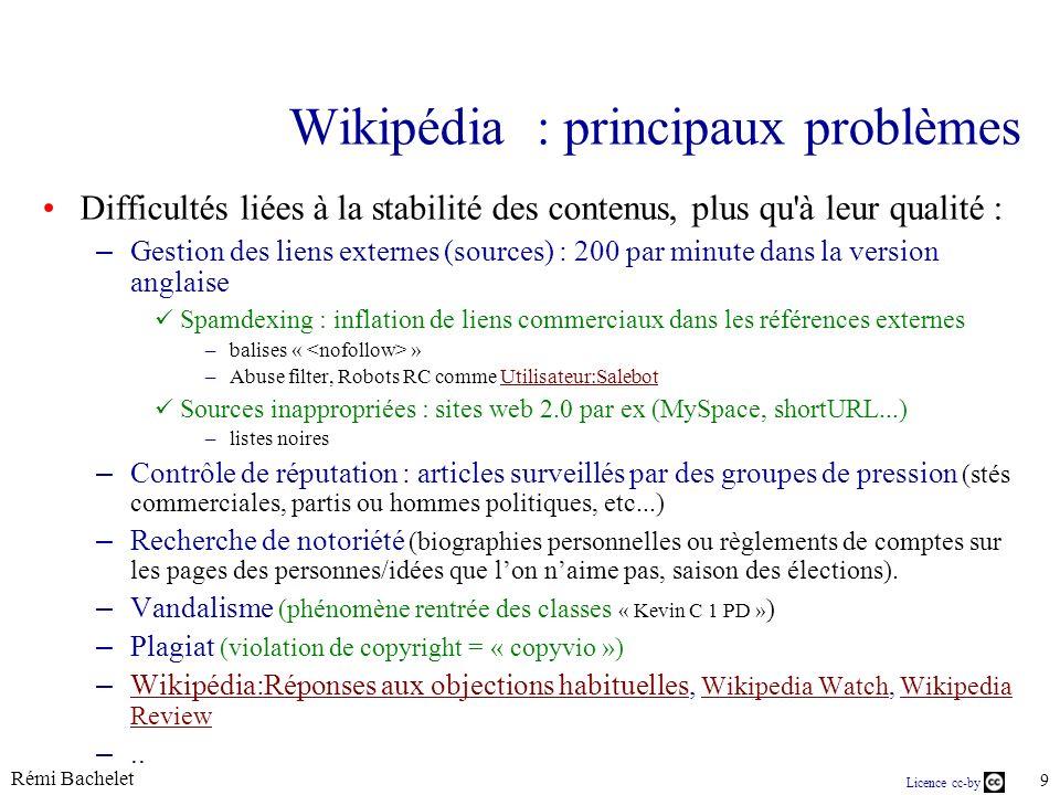 Licence cc-by Rémi Bachelet 30 Quelques stats sur les contributeurs...