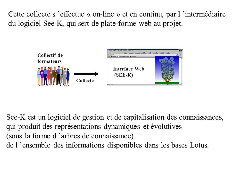 Interface Web (SEE-K) Cette collecte s effectue « on-line » et en continu, par l intermédiaire du logiciel See-K, qui sert de plate-forme web au projet.
