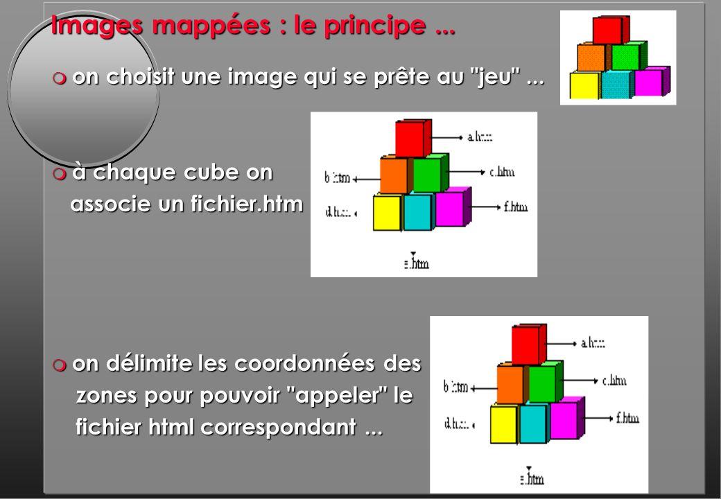 Images mappées : le principe... m on choisit une image qui se prête au jeu ...
