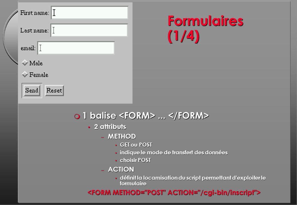 Formulaires (1/4) m 1 balise... m 1 balise...