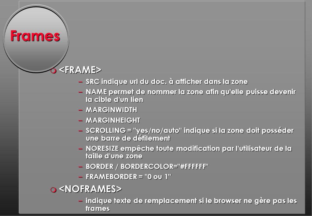 Frames m m – SRC indique url du doc.