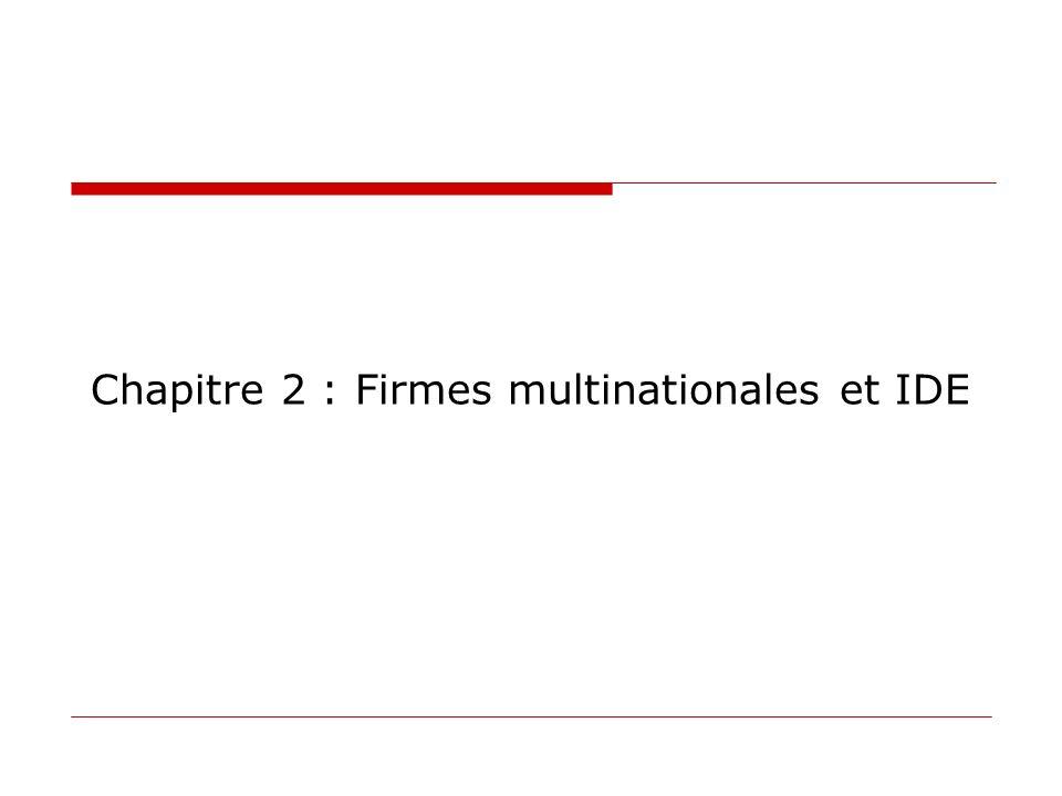 Chapitre 2 : Firmes multinationales et IDE