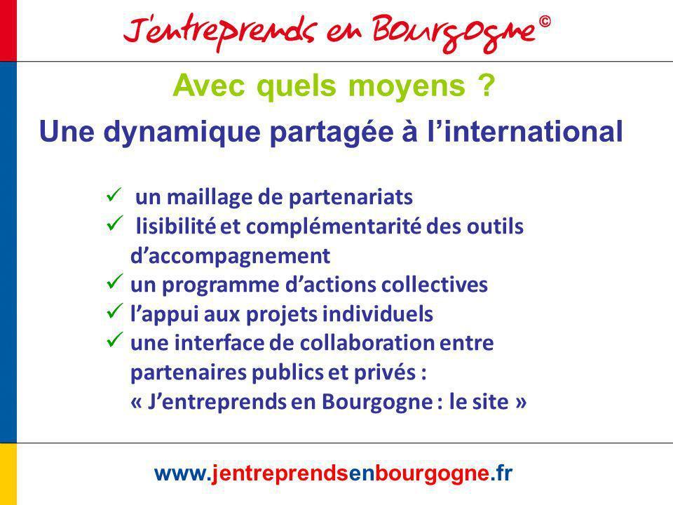 Le maillage international www.jentreprendsenbourgogne.fr Un réseau de partenaires Convention CRB-DRCE Convention CRB-UBIFRANCE Convention CRB-COFACE Convention CRB-OSEO Convention CRB-CRCI