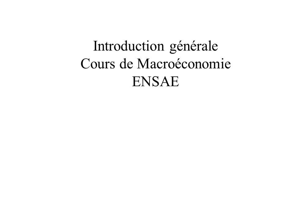 Introduction générale Cours de Macroéconomie ENSAE