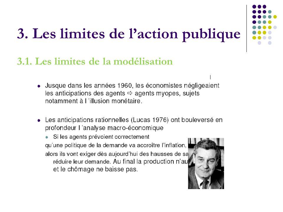 3. Les limites de laction publique 3.1. Les limites de la modélisation