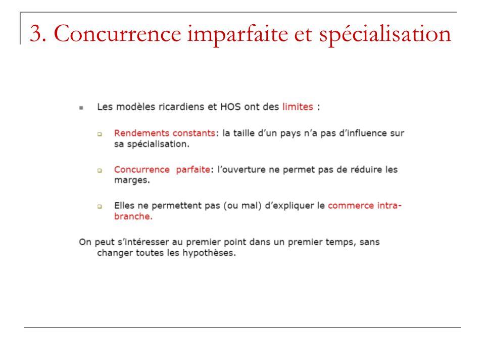 3. Concurrence imparfaite et spécialisation