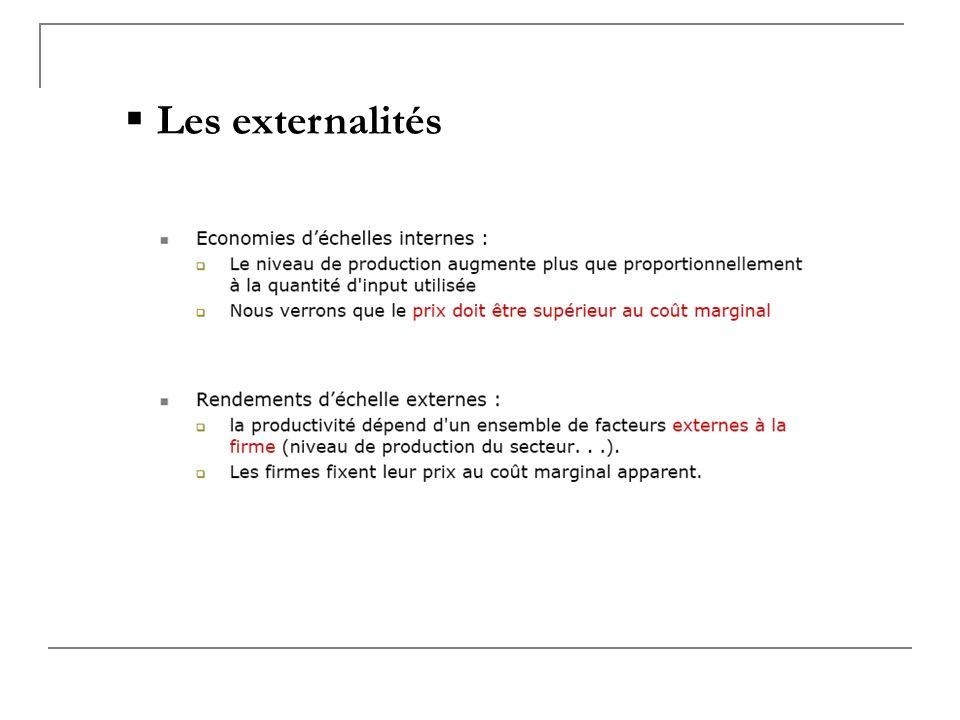 Les externalités