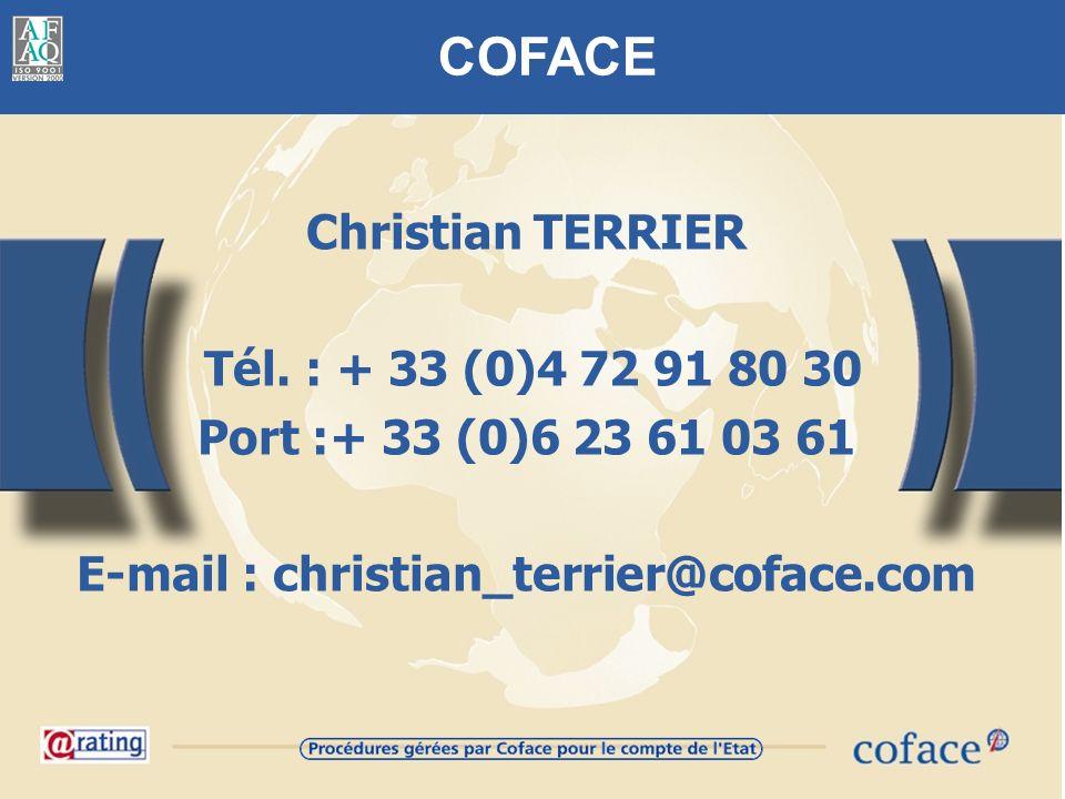 COFACE Christian TERRIER Tél.