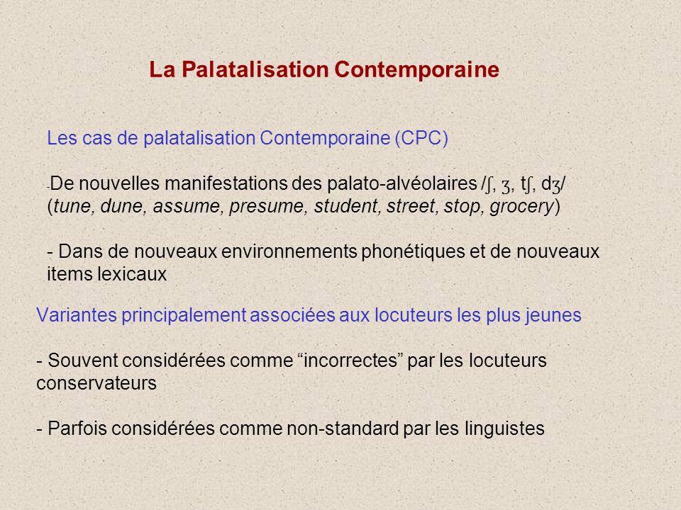 Les CPC : phonétiques ou phonologiques ? Question difficile Liste de mots