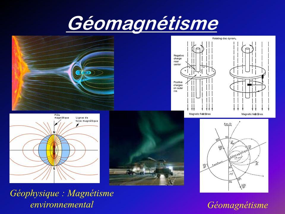 Géomagnétisme Géophysique : Magnétisme environnemental Géomagnétisme