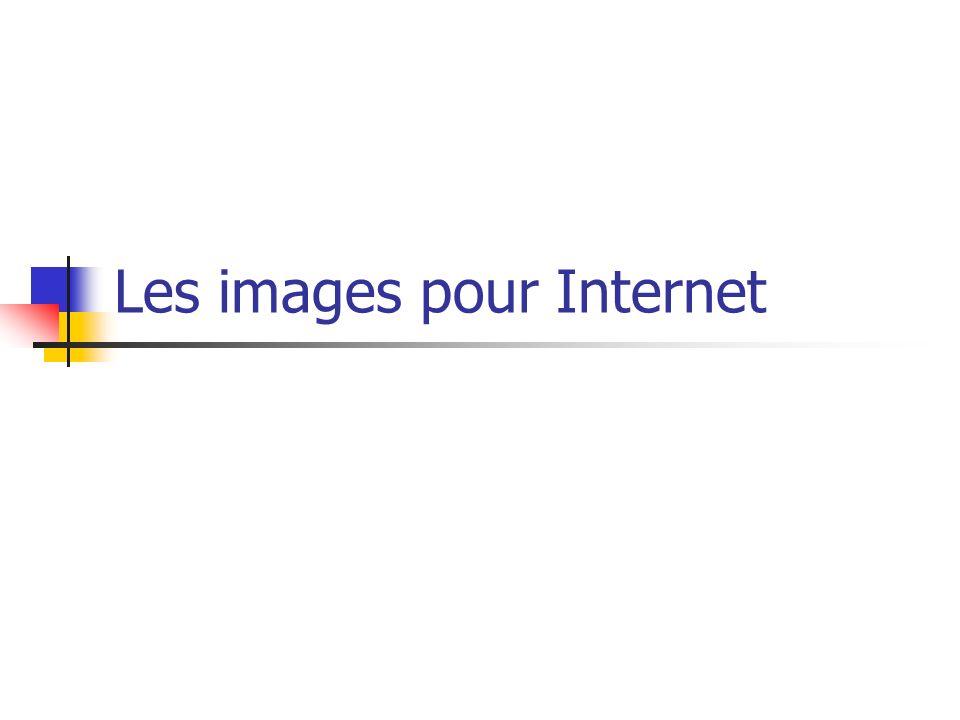 Les images pour Internet