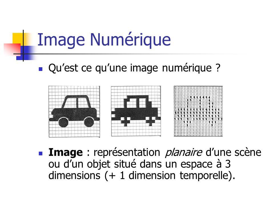 Limage numérique Une image numérique est composée d unités élémentaires appelé pixel (picture element) Chaque pixel représentent une portion de l image.