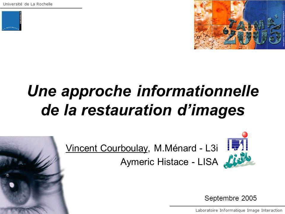 Université de La Rochelle Laboratoire Informatique Image Interaction 12 LEPI Information physique extrême Résolution par léquation dEuler-Lagrange
