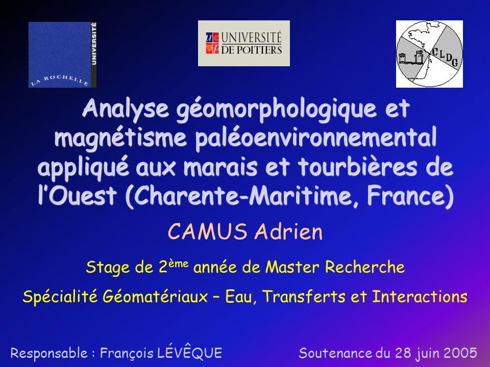 Océan Atlantique Gironde Marais Poitevin Seuil du Poitou Contexte géomorphologique Le MNT GTOPO30 présente une résolution de lordre de 1 km², et montre les principaux traits structuraux de la région.