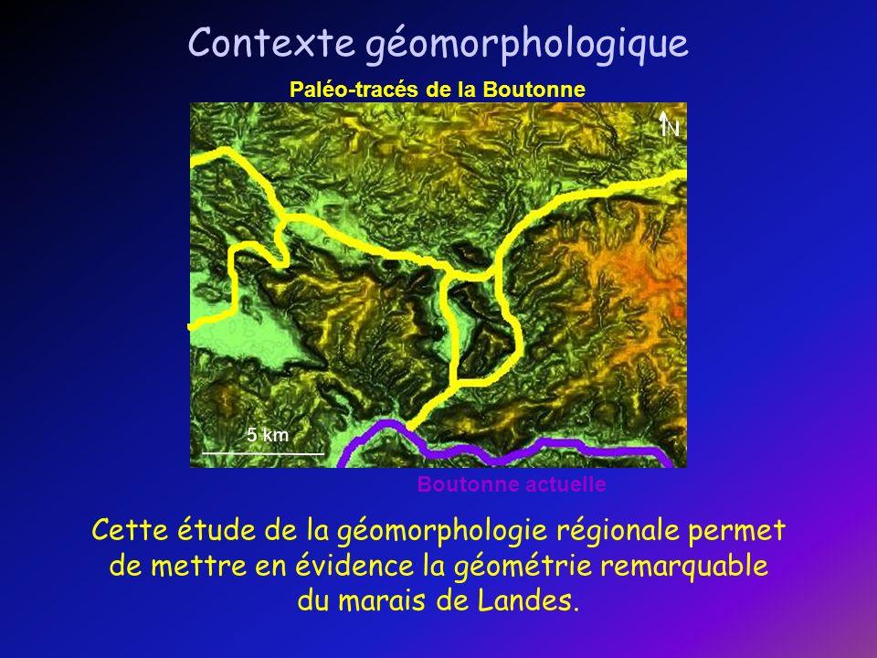 5 km Marais de Landes (marais de la Trézence) Boutonne actuelle Paléo-tracés de la Boutonne 5 km 1 km Faille connue BD ORTHO Ce marais semble être lié à une structure de type pull- apart.