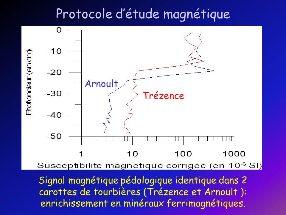 La susceptibilité magnétique montre une variabilité faible.