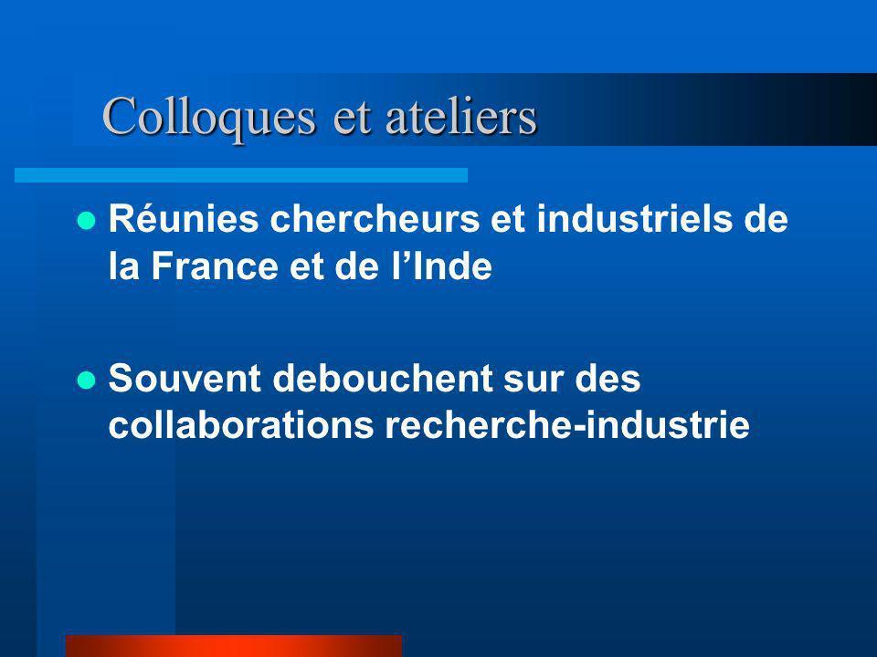 Projets de recherche Industriels (suite) Le premier projet impliquant un industrie français sur Diamond like coatings for bio-medical and other applications.