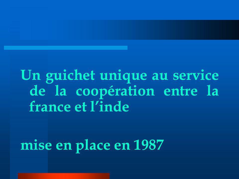 Un guichet unique au service de la coopération entre la france et linde mise en place en 1987