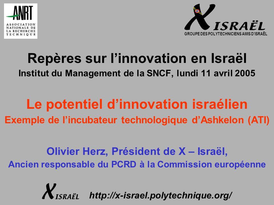 2 X – Israël en bref Le Groupe des Polytechniciens Amis dIsraël a été créé en 1993 au sein de lA.X., Association Amicale des Anciens Élèves de lÉcole Polytechnique X – Israël a pour objet la promotion des échanges entre les X intéressés par le développement des relations entre la France et Israël Les non-membres de lA.X.